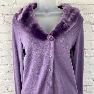 Twenty one purple fur colored sweater